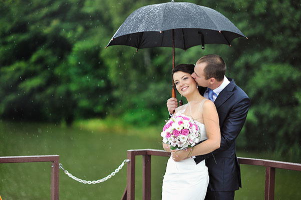 Our answer for people wondering, why is it good luck if it rains on your wedding day