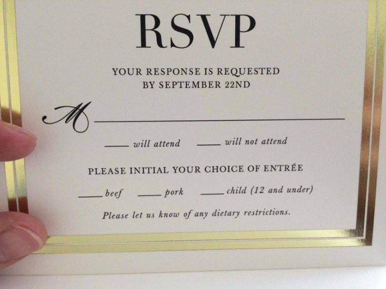 wedding RSVP wording tips