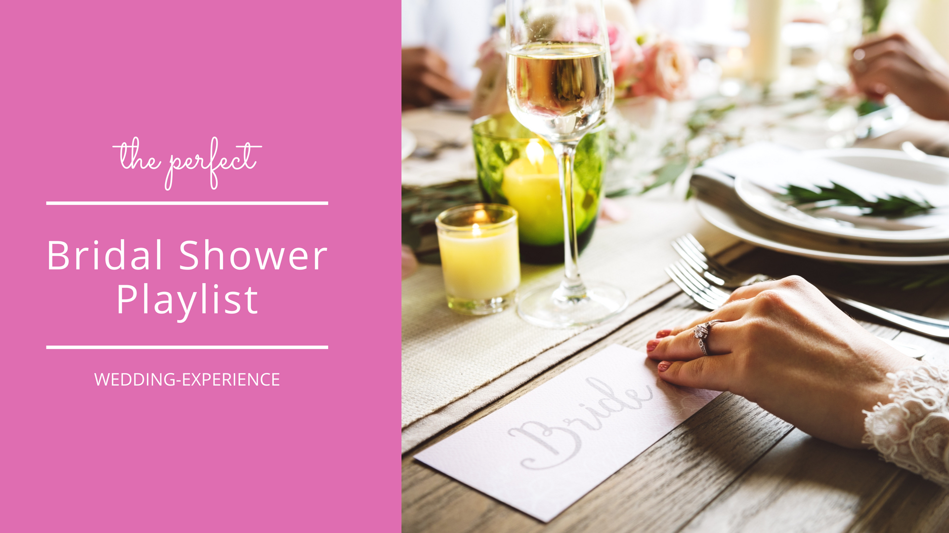 Wedding Experience Gifts: A Bridal Shower Playlist Guests Will Love