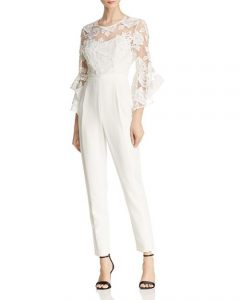 Bloomingdales Bridal Jumpsuit with lace bodice
