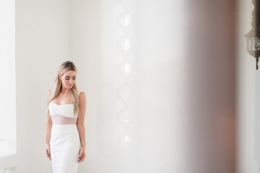 The Skinny Confidential Blogger Lauryn in her wedding gown