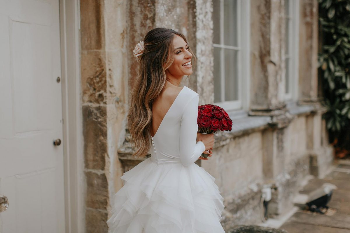 Fashion blogger Lydia on her wedding day