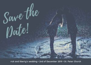 Winter Save The Date Free Template Example. Blue Wintery Save The Date