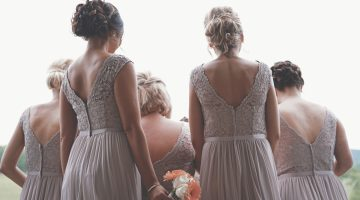 Lace tan bridesmaid dresses
