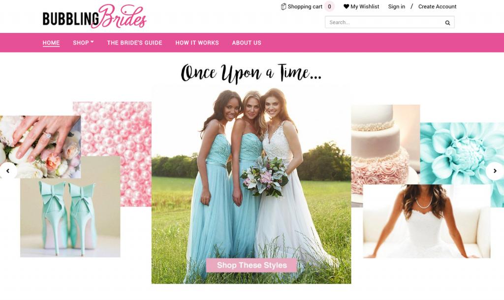 Bubbling Brides Bridesmaid Dress Shopping Page