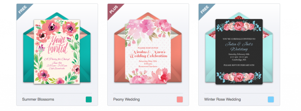 Examples of free online invitations from Punchbowl