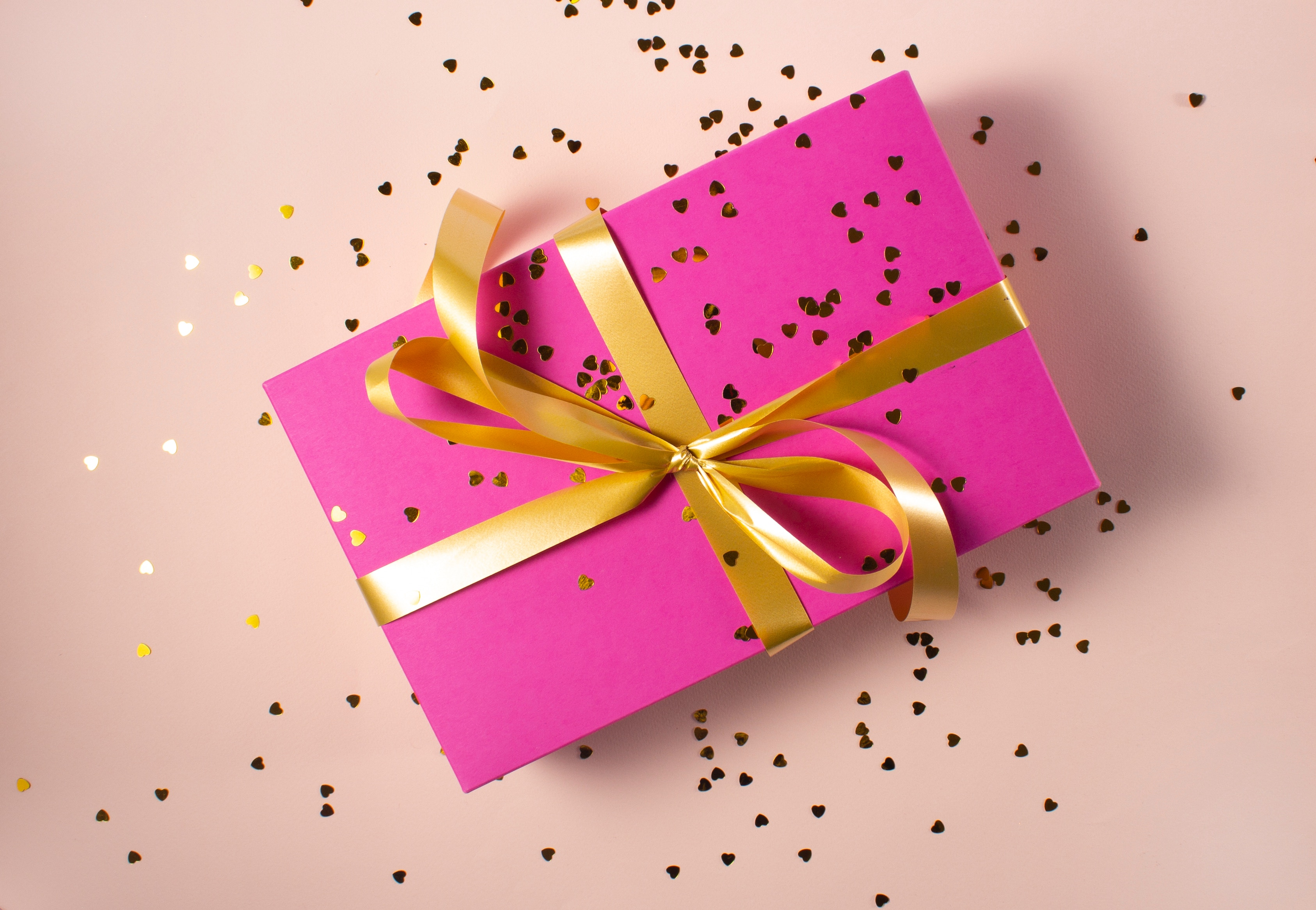 Pink wedding gift from registry