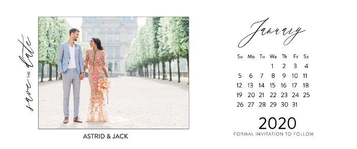 Save the Date calendar card template by WeddingChicks