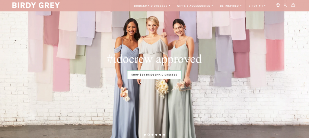 Try at home bridesmaid dresses from Birdy Grey
