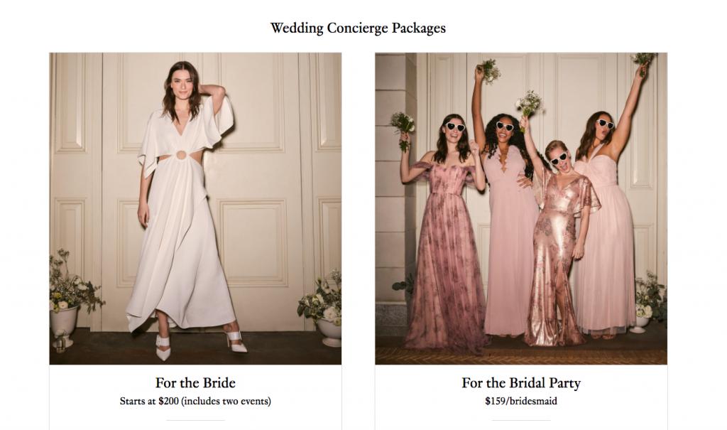 Rent The Runway Wedding Rental Packages
