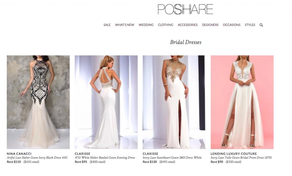 Poshare Wedding Dress Rentals