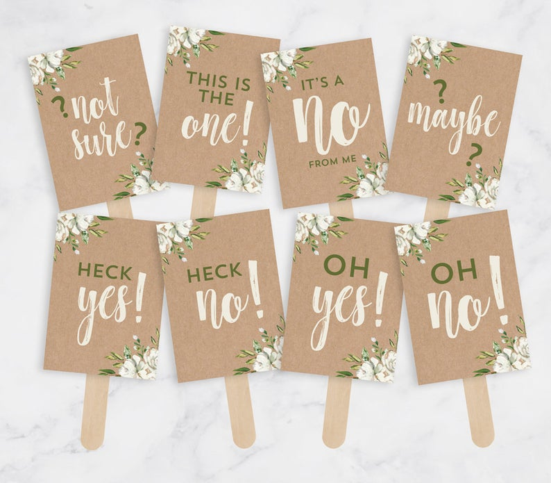Wedding Dress Shopping Signs for your shopping crew!