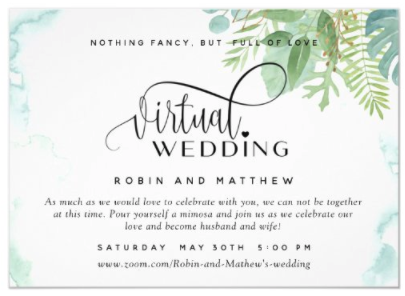 Virtual Wedding Ceremony Invitation
