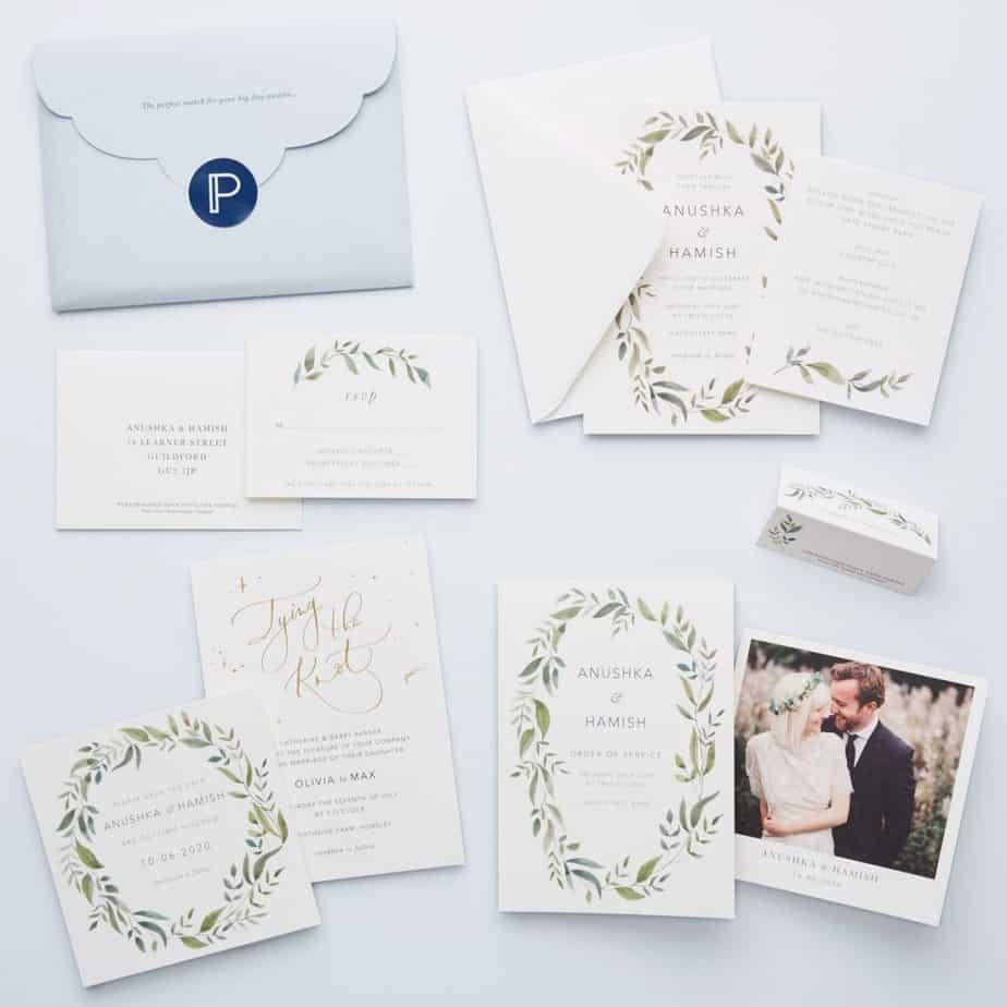 Papier Wedding Invitation and Stationary Sample Kit.