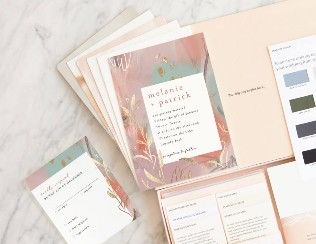 free wedding invitation samples from Minted