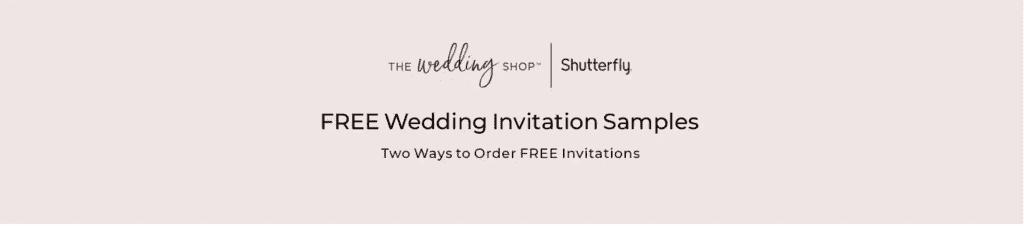 FREE wedding invitation samples from Shutterfly.
