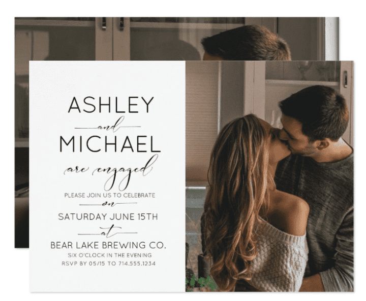 Engagement Party Invitation Example